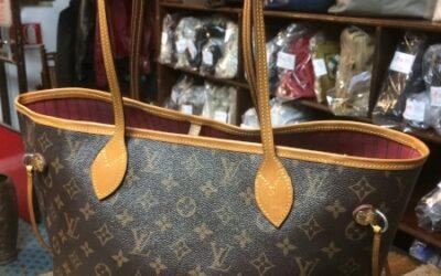Borsa donna in sintetico e vacchetta, marca Louis Vuitton, Neverfull, anni 2000