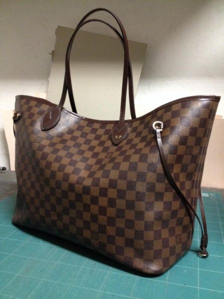 Borsa donna in sintetico e pelle, marca Louis Vuitton, Neverfull, anni 2000